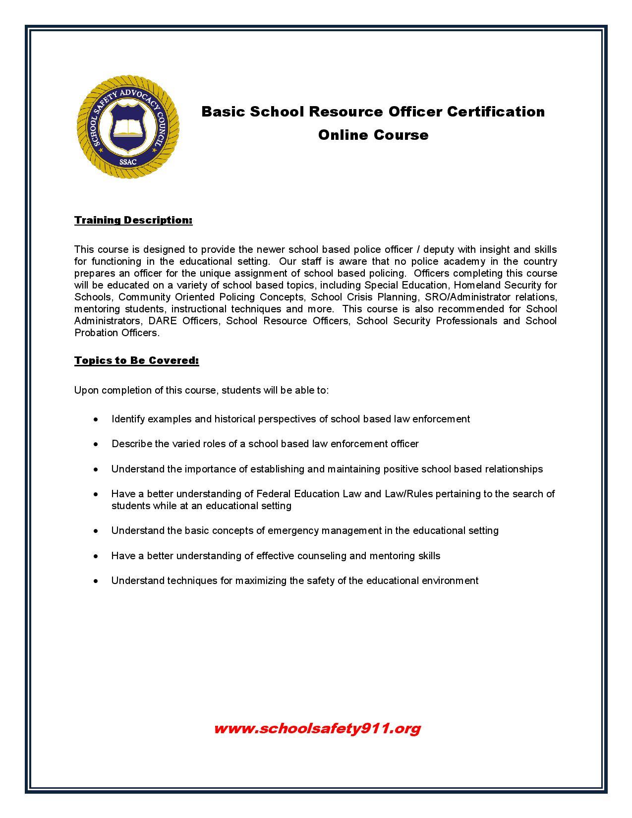 Online School Safety Training Academy